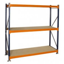 Budget 3 Shelf Longspan Shelving Bays 600mm Deep