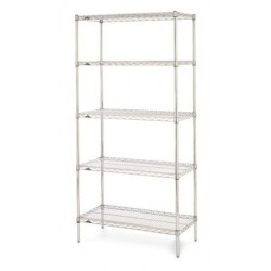 Metro Super Erecta Chrome 5 Shelf Starter Bays