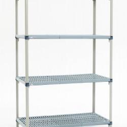 Metromax Q Metro Polymer 4 Shelf Open Grid Shelving Unit