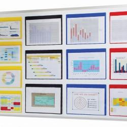 Rainbow Coloured Document Pockets CAP4