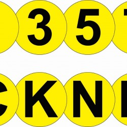 Floor Identification Markers (Numbers & Letters)